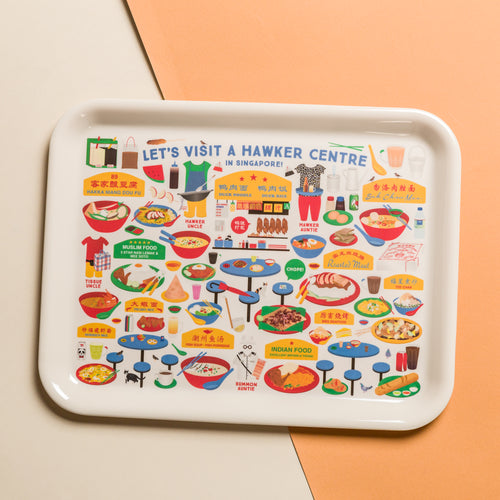 Let's Visit a Hawker Centre Melamine Tray