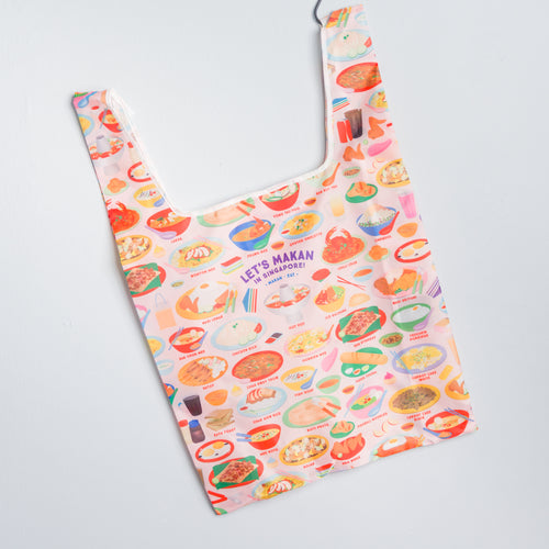 Let's Makan in Singapore Shopper Bag