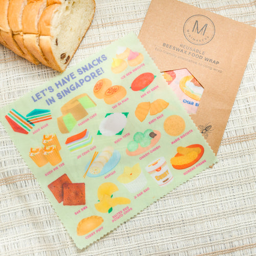 Singapore Snacks Beeswax Food Wrap