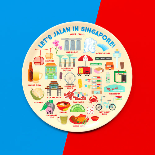 Let's Jalan in Singapore Melamine Plate