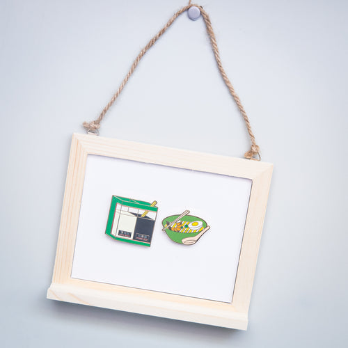 Laksa and Drinks Magnet Set