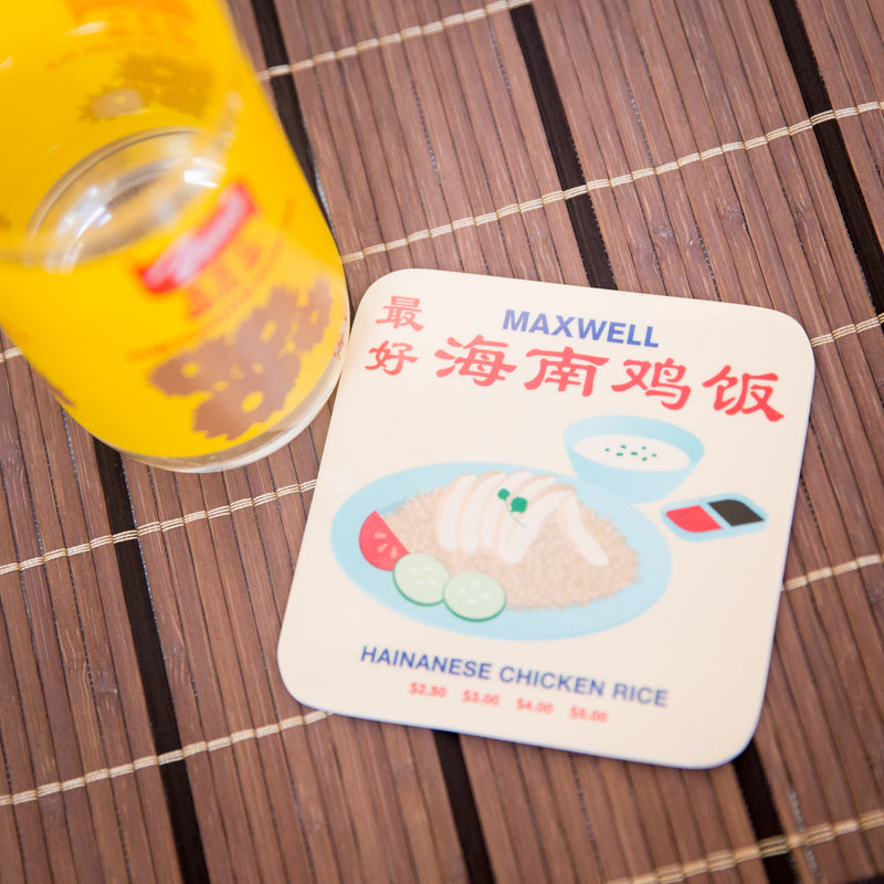 Chicken Rice Melamine Coaster