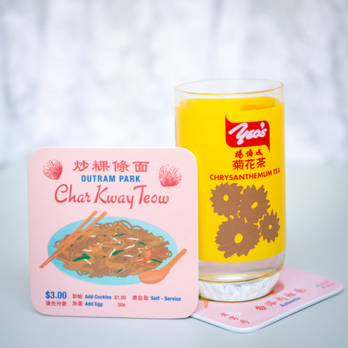 Char Kway Teow Melamine Coaster