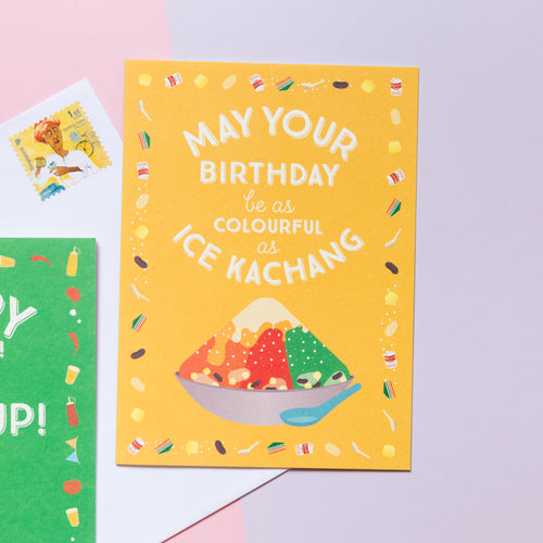 Colourful as Ice Kachang Birthday Card