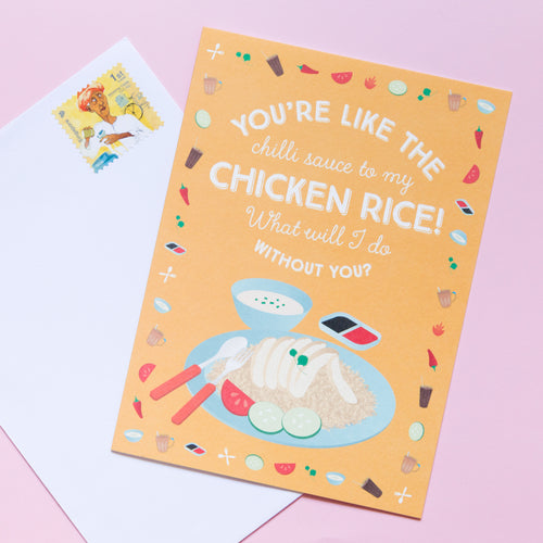 Chicken Rice Friendship Card