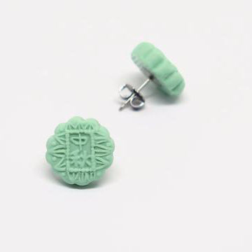 Mooncake (Green) Ear Studs