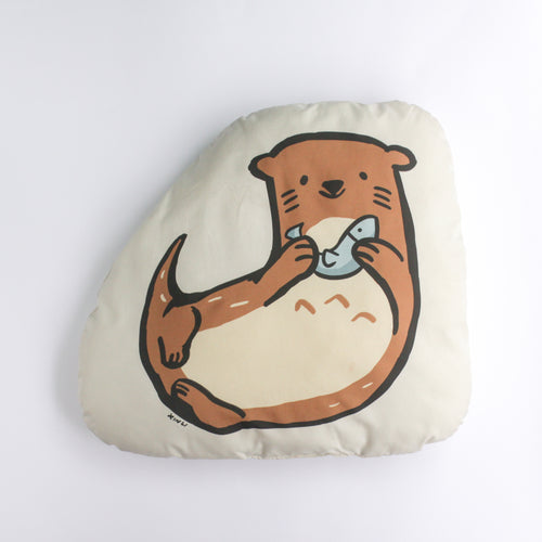 Otter with Fish Plushie