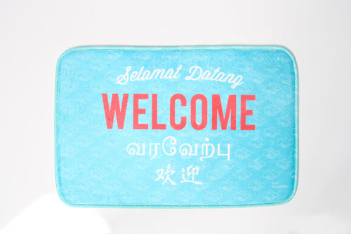 Welcome Doormat (Blue)