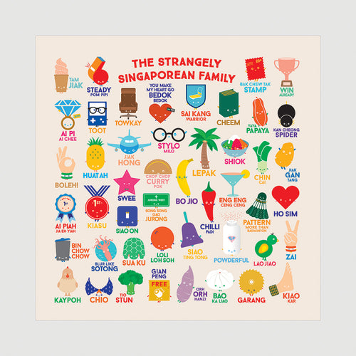 (PRE-ORDER) Strangely Singaporean Beeswax Food Wrap