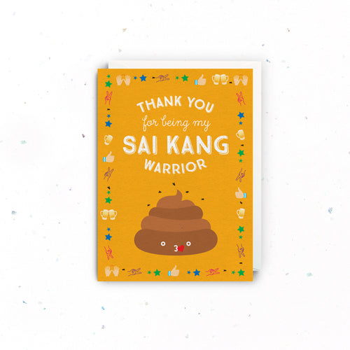 Sai Kang Warrior Thank You Card