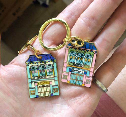 Shophouse (Katong Blue) Keychain
