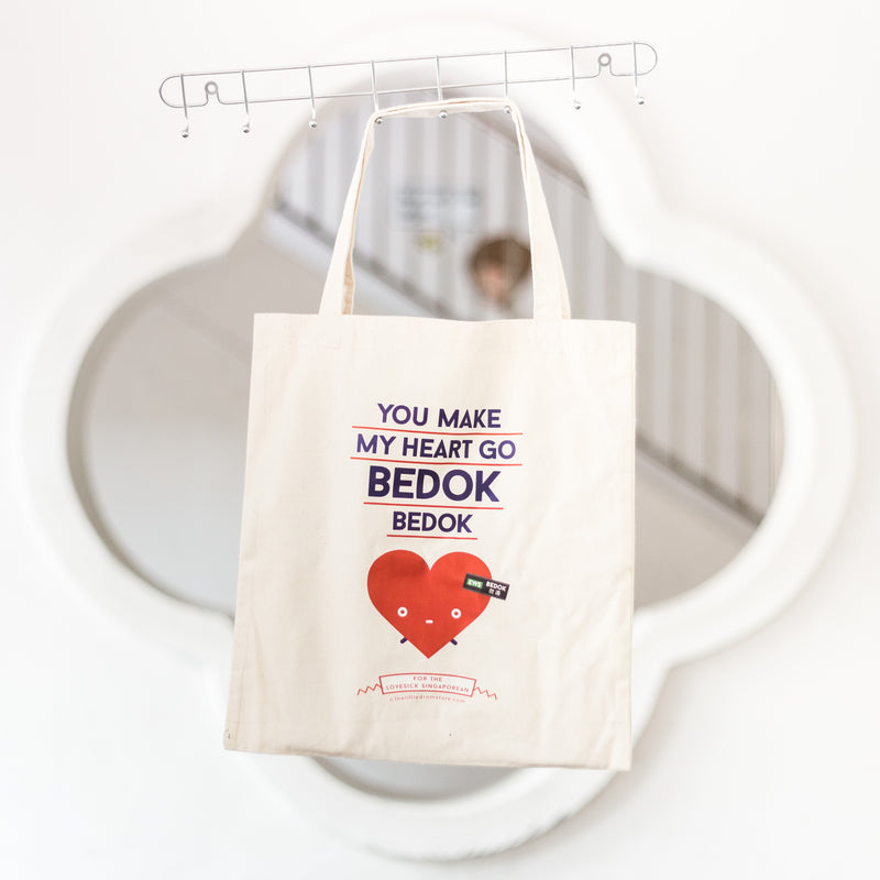 You Make My Heart Go Bedok Bedok Tote Bag