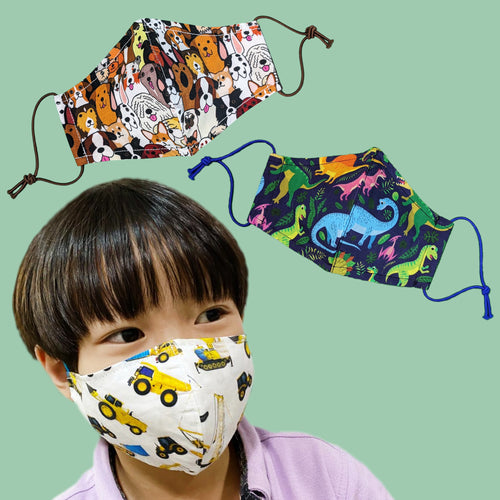 Kids Prints Antimicrobial Face Mask (Kids & Adult Sizes)