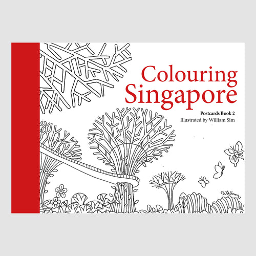 Colouring Singapore: Postcards Book 2