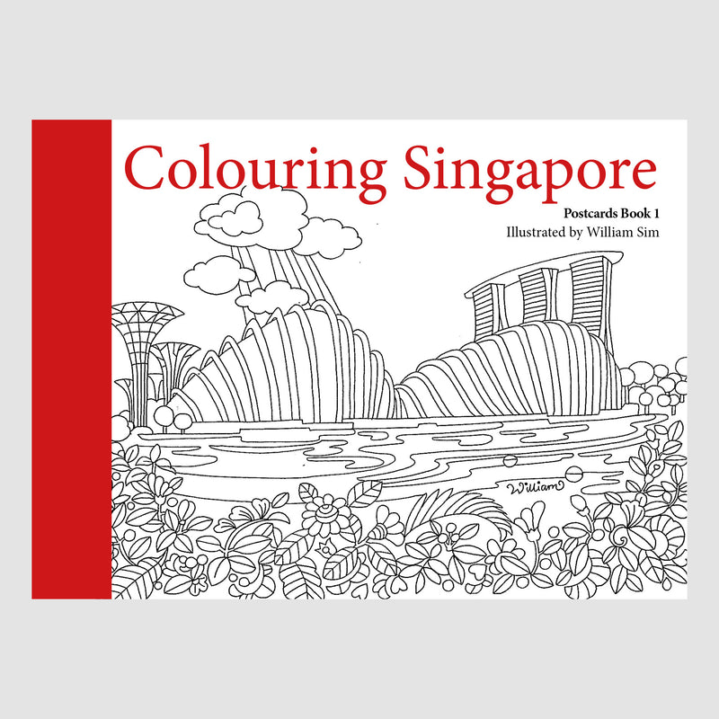 Colouring Singapore: Postcards Book 1