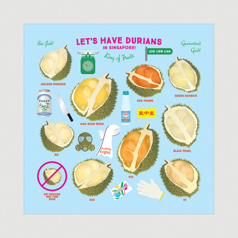 Smell your Durians Beeswax Food Wrap