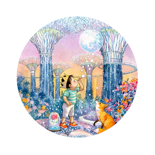 Gardens by the Bay (Rise My Little Moon) Porcelain Plate