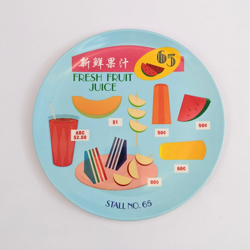 Fresh Fruit Juice Melamine Plate