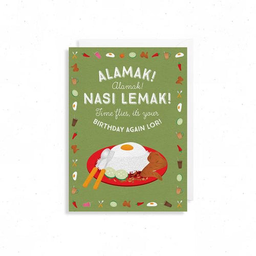 Alamak Nasi Lemak Birthday Card