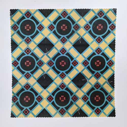 Celandine blue Peranakan Tiles Beeswax Food Wrap
