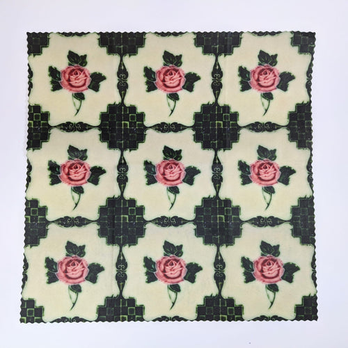 Rose Green Peranakan Tiles Beeswax Food Wrap