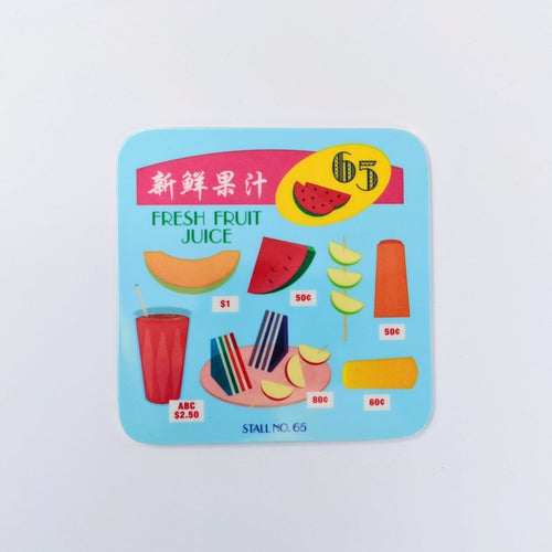 Fresh Fruit Juice Melamine Coaster
