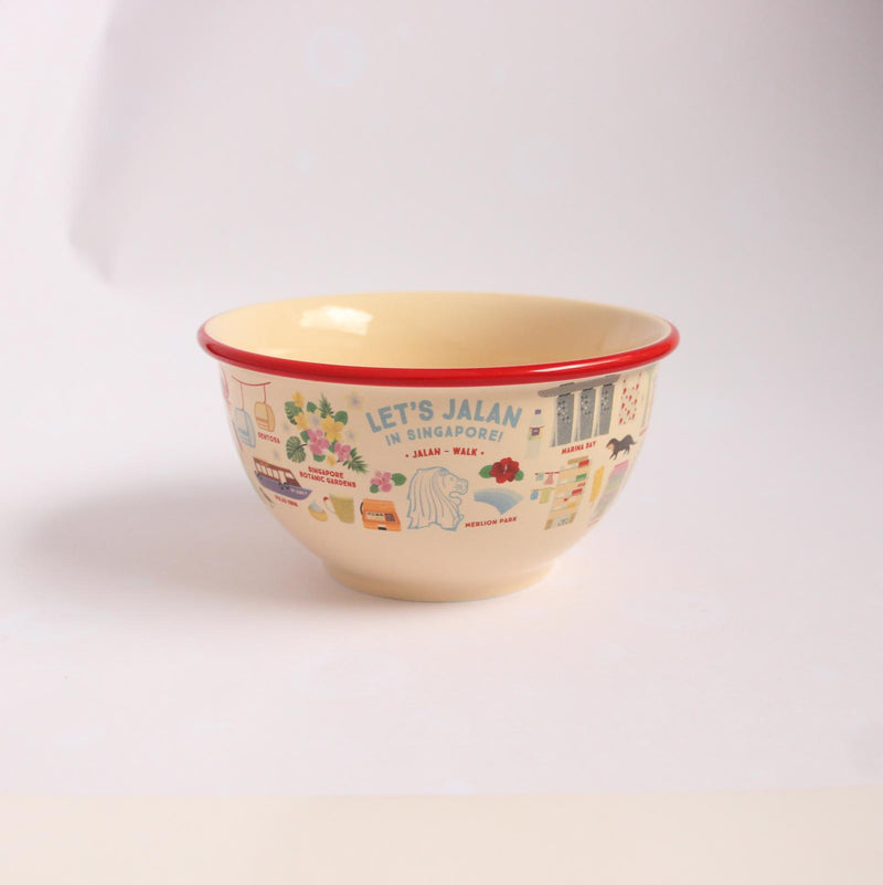 Let's Jalan in Singapore Ceramic Bowl