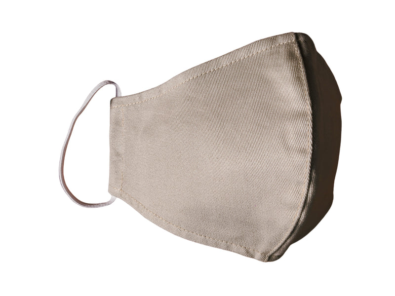 Plain Neutral Cotton Twill Face Mask (Adult Sizes)