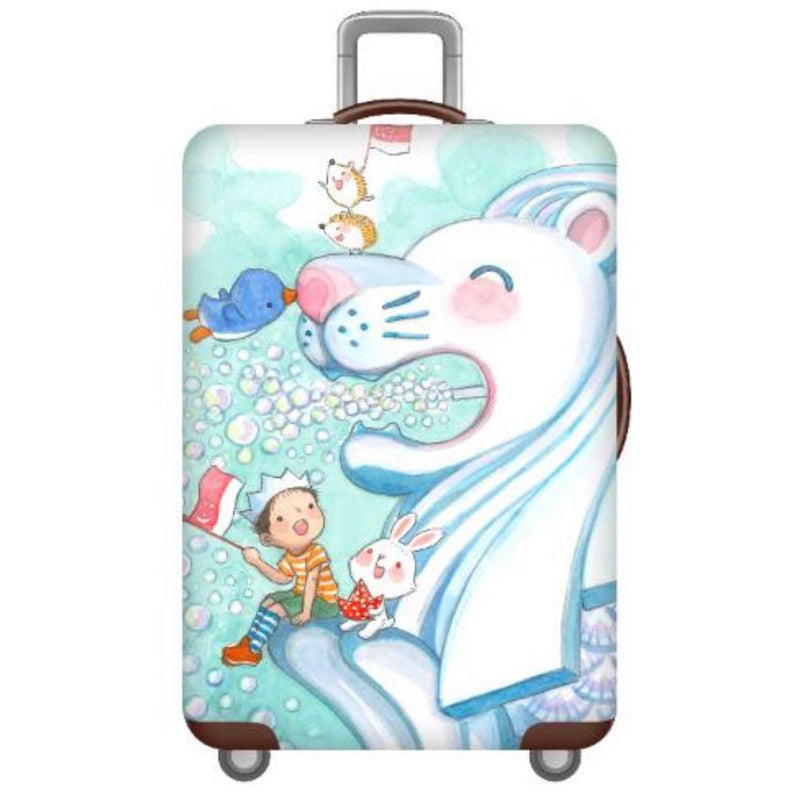 Merlion Big Love Luggage Cover