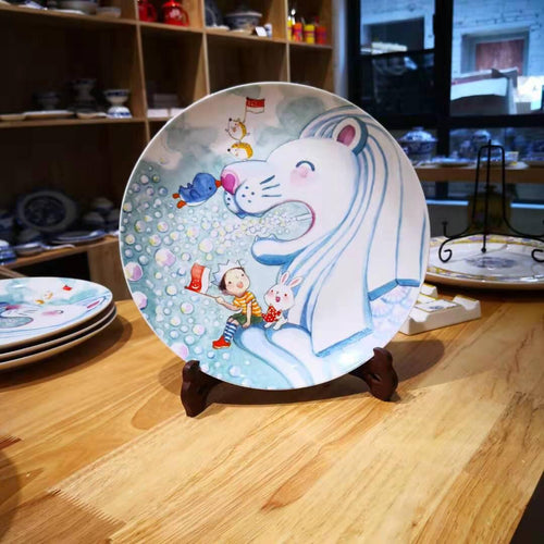 Merlion Big Love Porcelain Plate