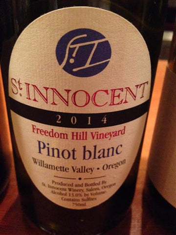 St. Innocent Pinot Blanc Freedom Hill Vineyard 2014