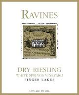 Ravines Riesling Dry White Springs Vineyard 2015
