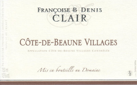 Francois & Denis Clair Cote-De-Beaune Villages 2014