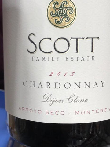 Scott Family Estate Chardonnay Dijon Clone 2015