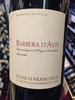 Franco Francesco Barbera d'Asti 2016