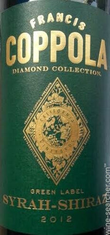 Francis Ford Coppola Diamond Collection Syrah - Shiraz Green Label 2015