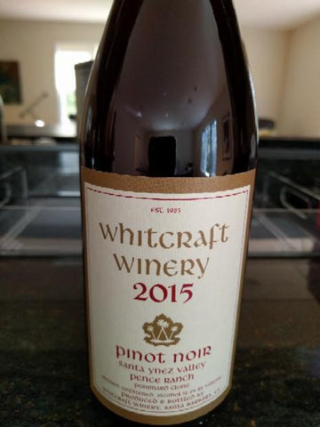 Whitcraft Pinot Noir Pence Ranch Pommard Clone 2015