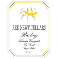 Red Newt Cellars Riesling Lahoma Vineyards 2013