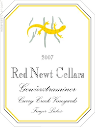 Red Newt Cellars Gewurztraminer Curry Creek Vineyards 2012