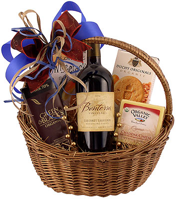 Organic Red Wine & Food Gift