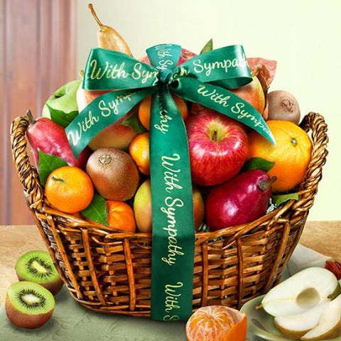 With Sympathy Fruit Basket