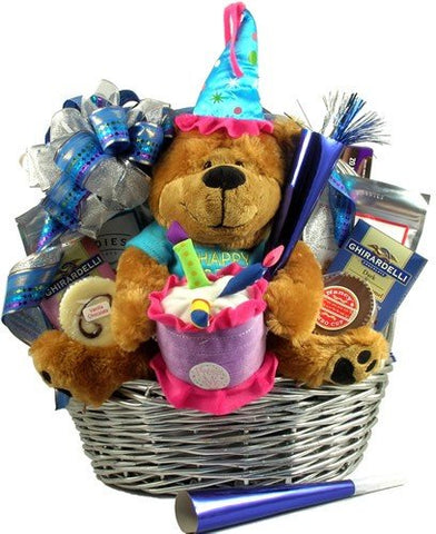 Gift Basket Village It's My Birthday Gift Basket with Musical Bear