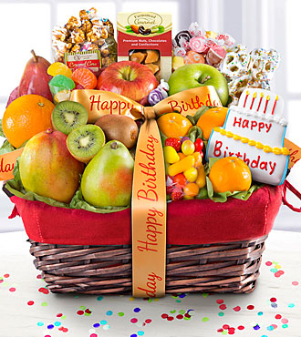 Happy Birthday Gourmet Fruit Basket - BETTER