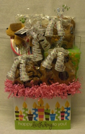 Bow Wow A Happy Birth Day To You Dog Gift Basket