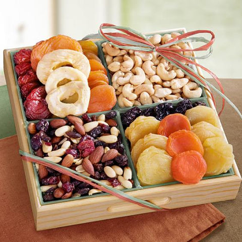Santa Cruz Dried Fruits with Savory and Chocolate Nuts Crate