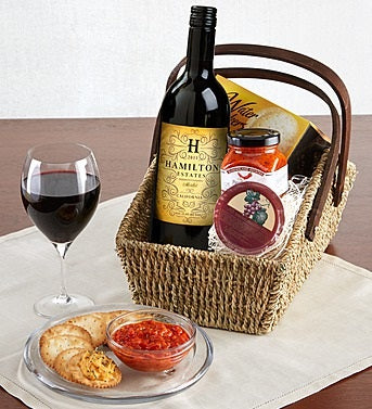Merlot Wine Country Escape Gift Basket