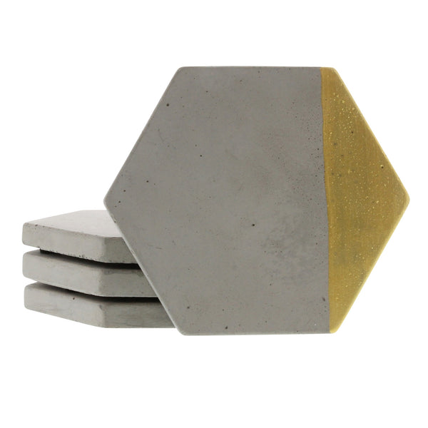 Cement Coasters in Gold