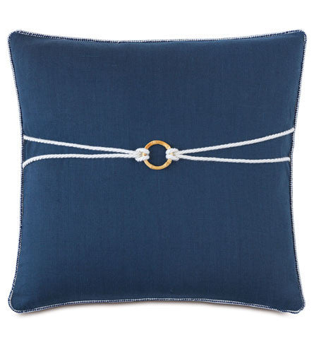 Navy Bamboo knot pillow
