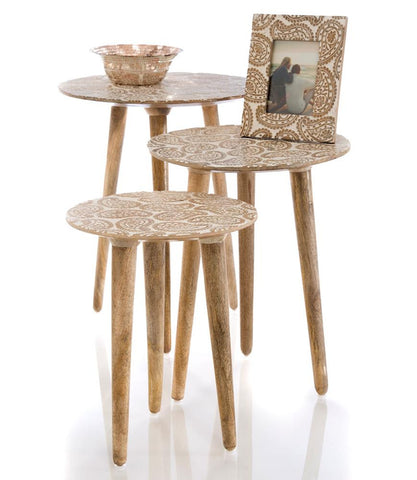 Gold Ardenal Side Tables Set of 3