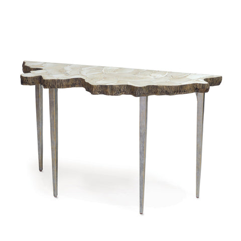 Palecek Chloe Fossilized Clam Console Table
